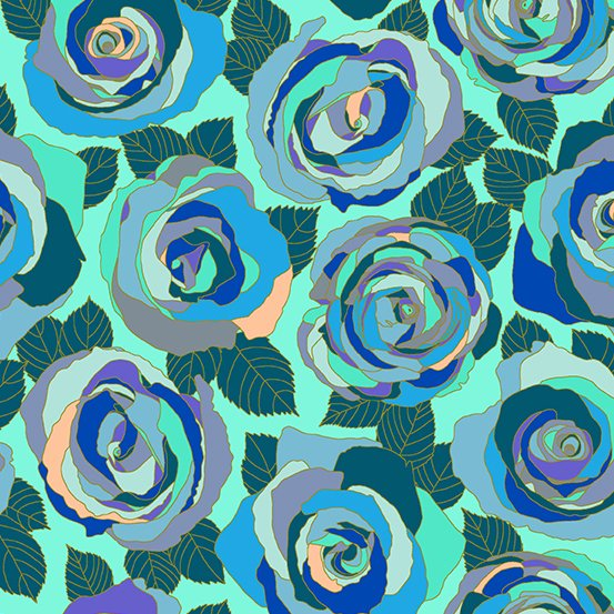 Shannon Brinkley Mosaic Roses/Wintergreen