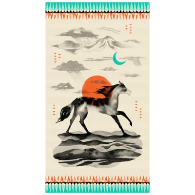 Cotton+Steel Santa Fe- Sunrise RedPre-cut panel
