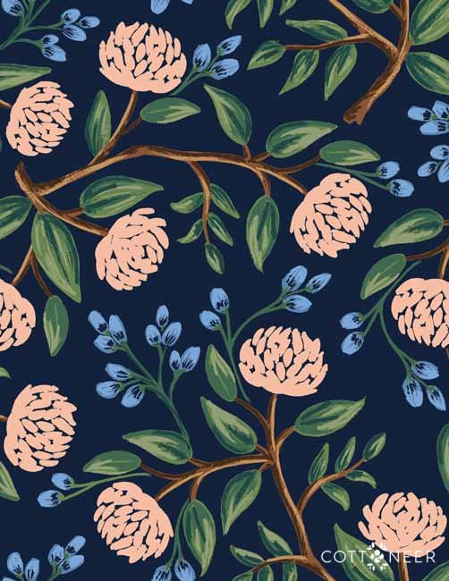 Rifle Paper Company  Peonies Navy