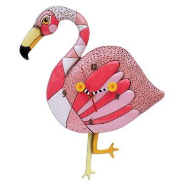 CLOCK-Crazy Legs Flamingo