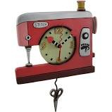 CLOCK-Double Stitch Sewing RED