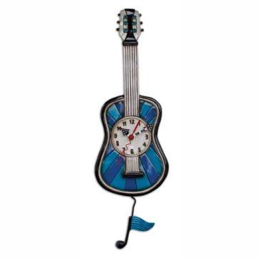 CLOCK-Blue Tunes Guitar
