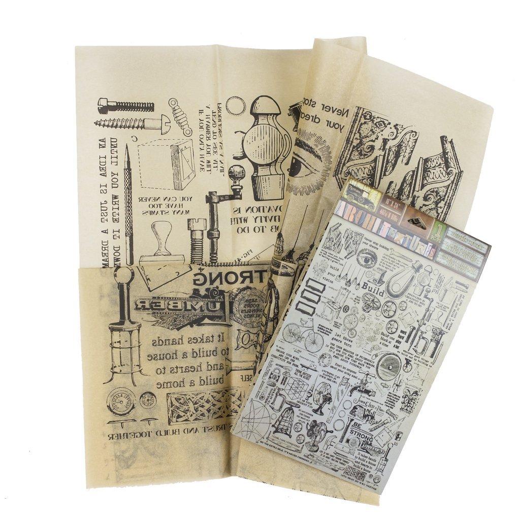 Architextures-Parchment Rub Ons-Build