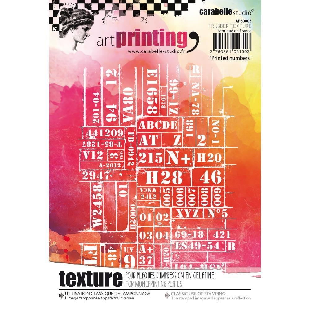 Carabelle Studio - Texture plate Printed Numbers