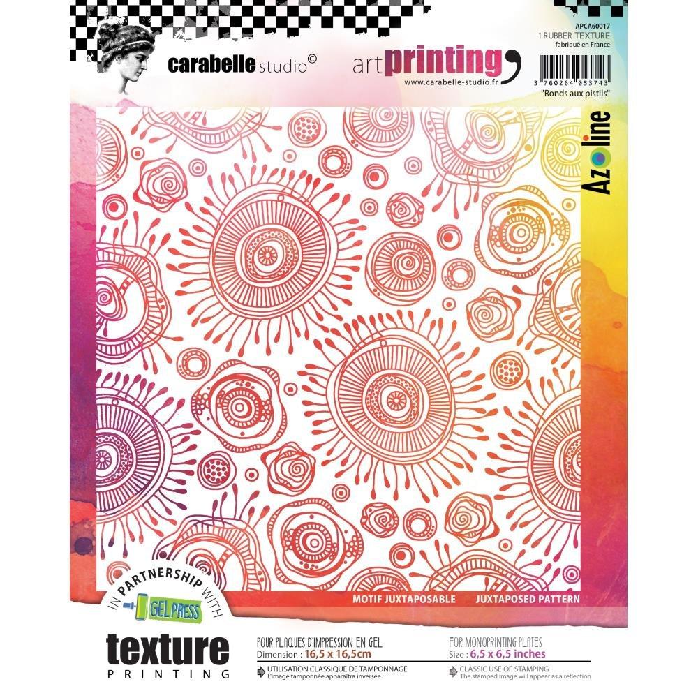 Carabelle Studio - Texture plate Circles in Pistils