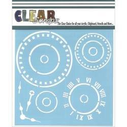 Clear Scraps- Roman Clock 12 X 12