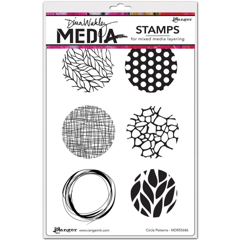Dina Wakely Cling Stamps- Circles