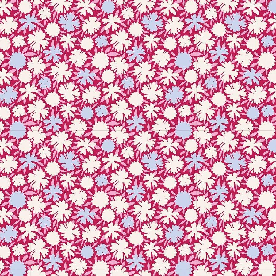 Tilda-Bird Pond- Pompom in Raspberry-100107