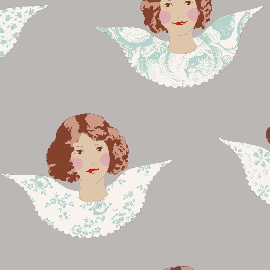 Tilda Old Rose - Angel Scraps Grey
