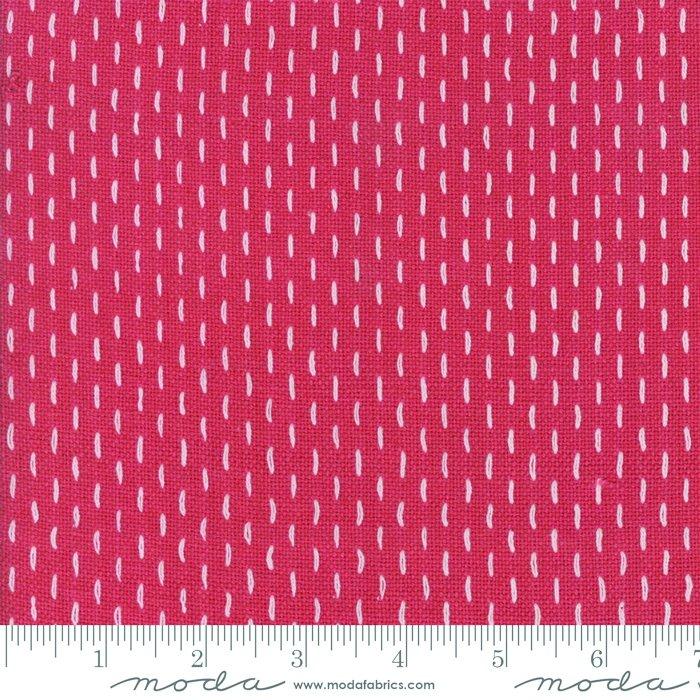 French Sashiko Wovens Faded Red 12562 12