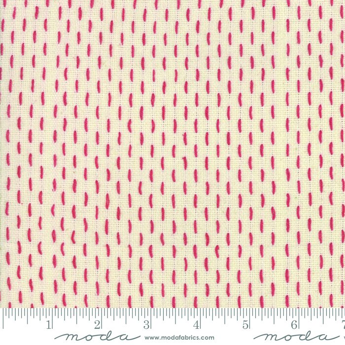 French Sashiko Wovens Pearl Red 12562 15