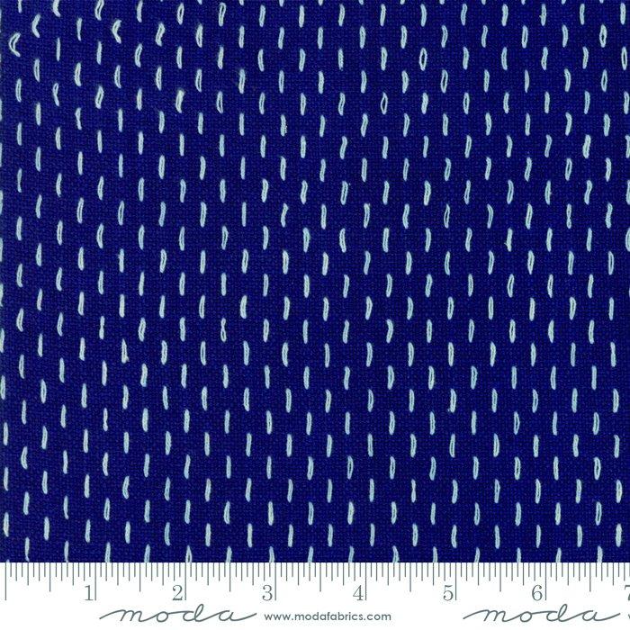French Sashiko Wovens Indigo 12562 17