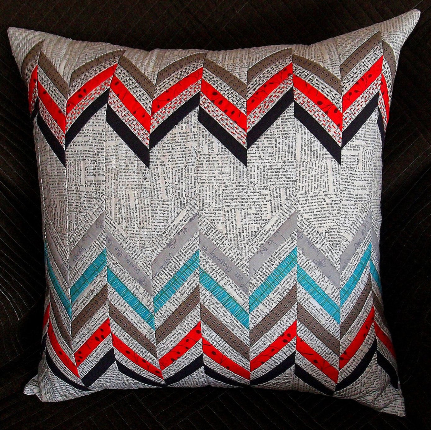 Split Chevron Cushions Pattern