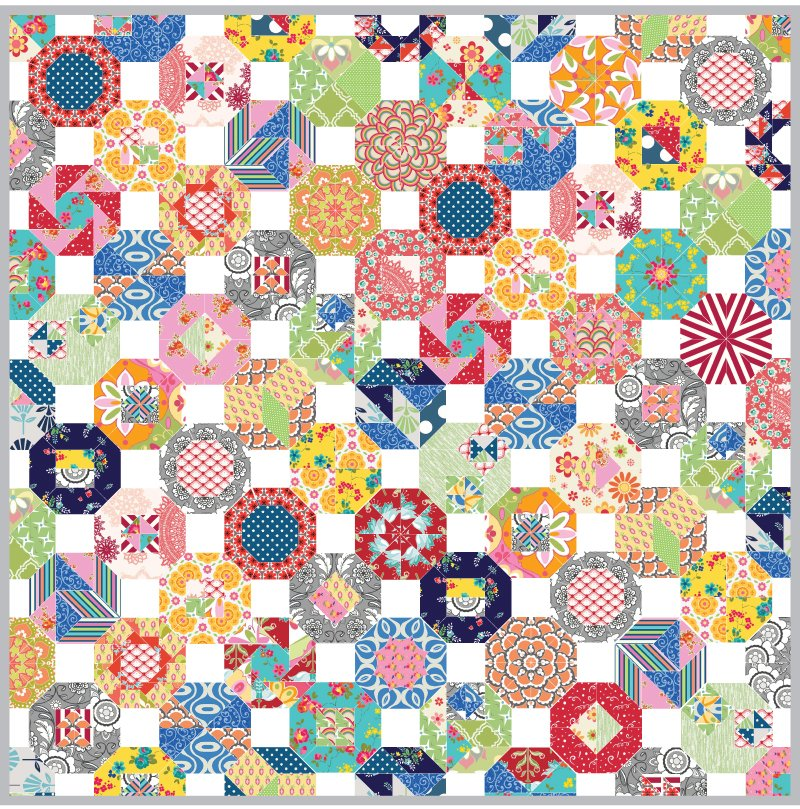 All Over the Octagon Fussy Cut Club - Months 2-12 $24.50