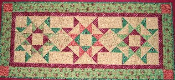 Broken Star Christmas Runner Pattern