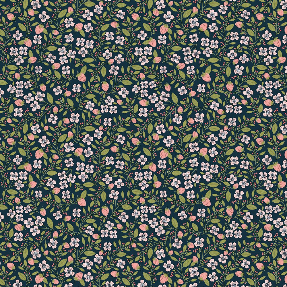 Daisy Mae - Berry Blossoms in Navy - DM20120