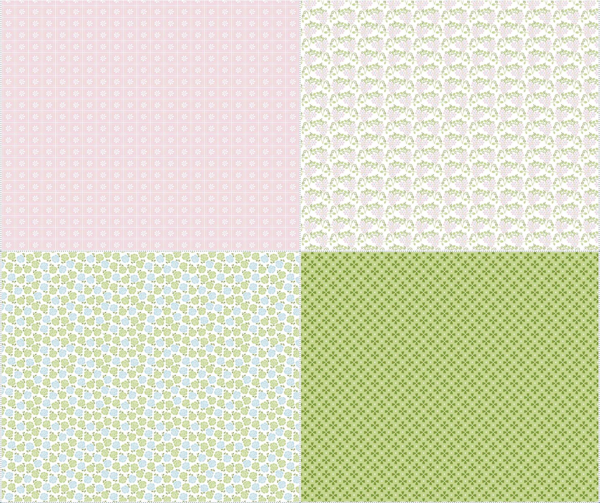 Sew Cherry 2 FQ Panel FQP5809 Pink