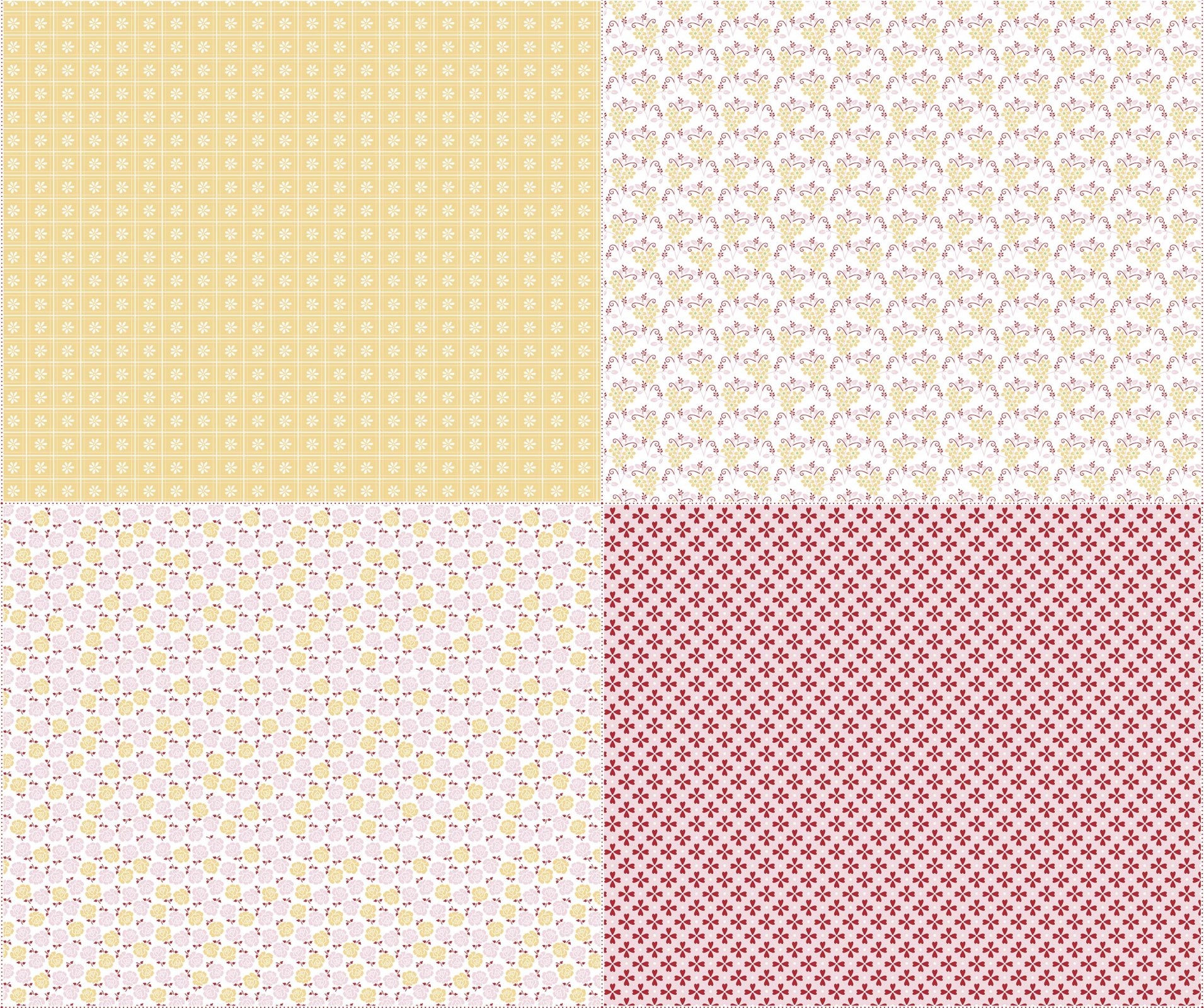 Sew Cherry 2 FQ Panel FQP5809 Yellow