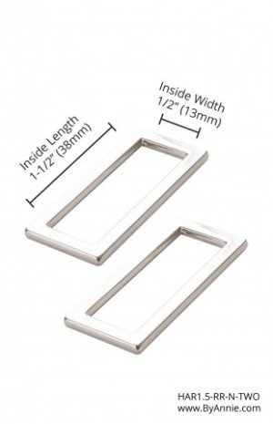 1.5 Nickle Rectangle Ring Flat