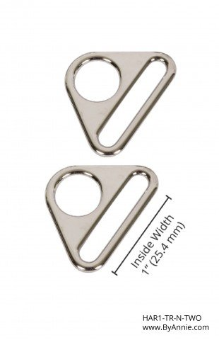 1 Nickle Triangle Ring
