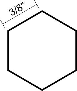 Hexagon 3/8