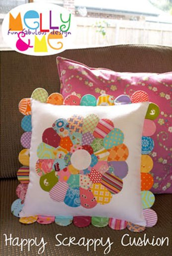 Happy Scrappy Cushion Pattern