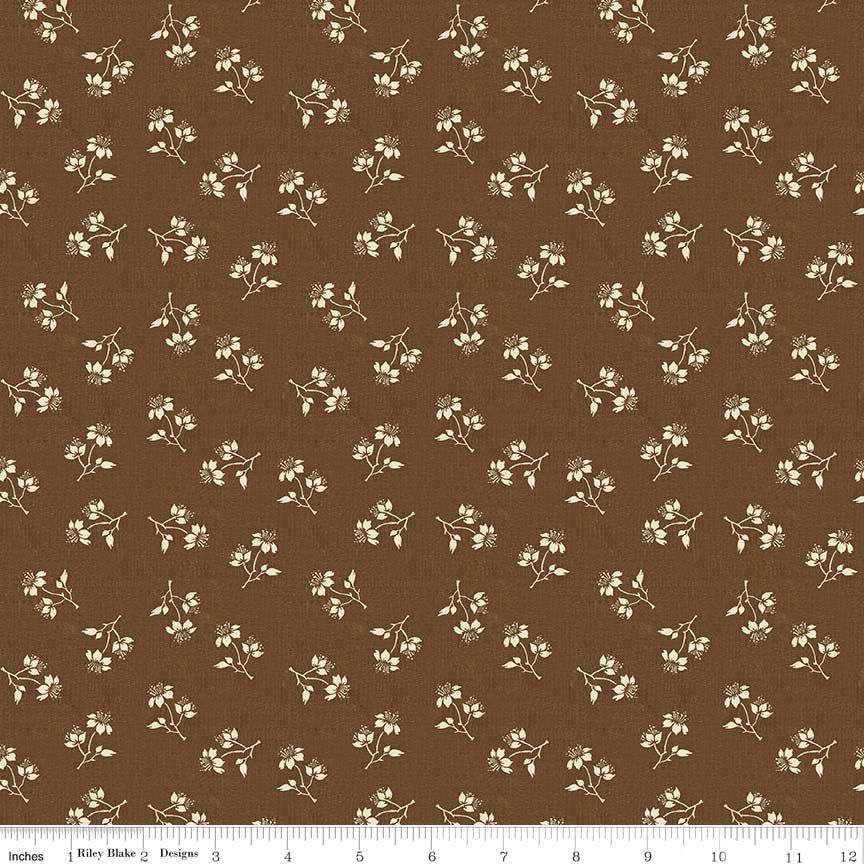 Toile De Jouy C6133 Brown 2.9m Piece