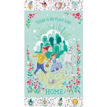 Dorothy's Journey  Panel in Mint Sparkle