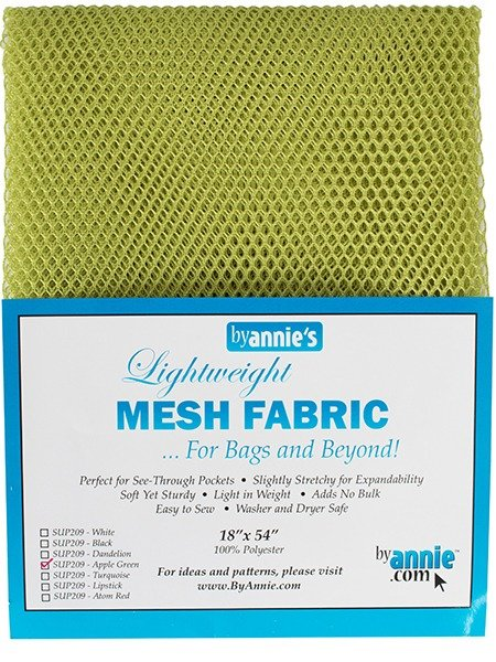 Mesh Fabric - Apple Green