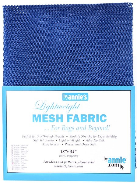 Mesh Fabric - Blastoff Blue