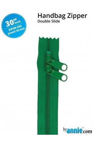 Zipper - 30 Jewel Green