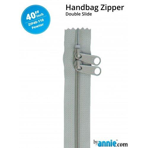 Zipper - 40 Pewter