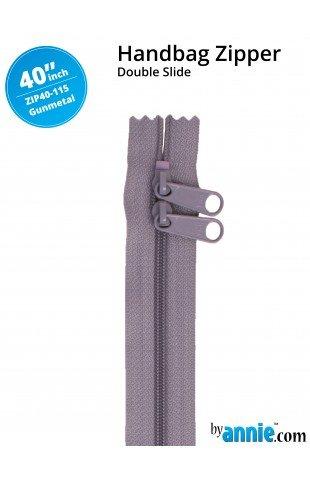 Zipper - 40 Gunmetal Grey