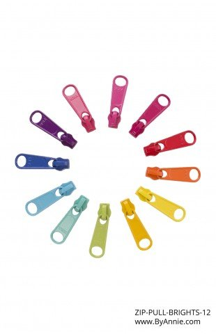 Zipper Pulls - 12 Pack - Brights