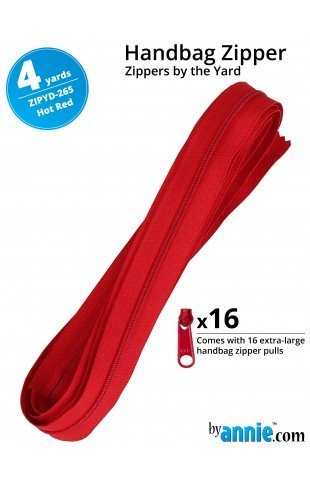 Zippers by the Yard (4YD) Hot Red