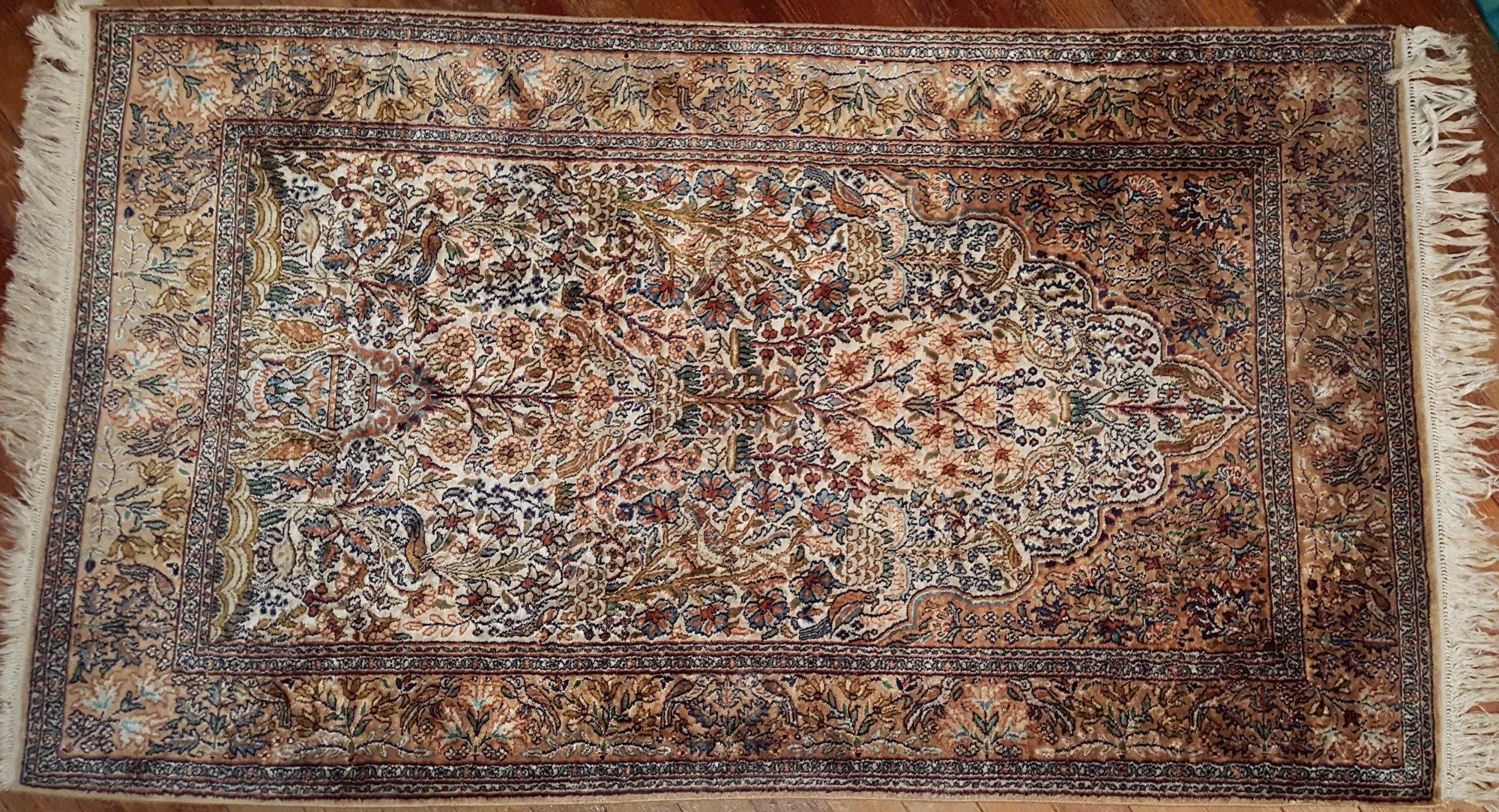 20th Century Middle Eastern Persian Silk Qum rug