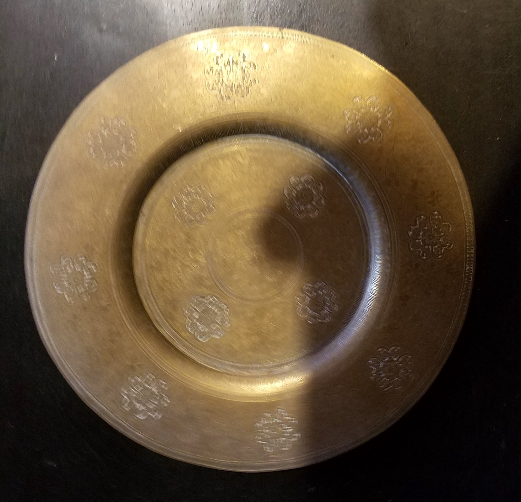 Persian Copper charger plate