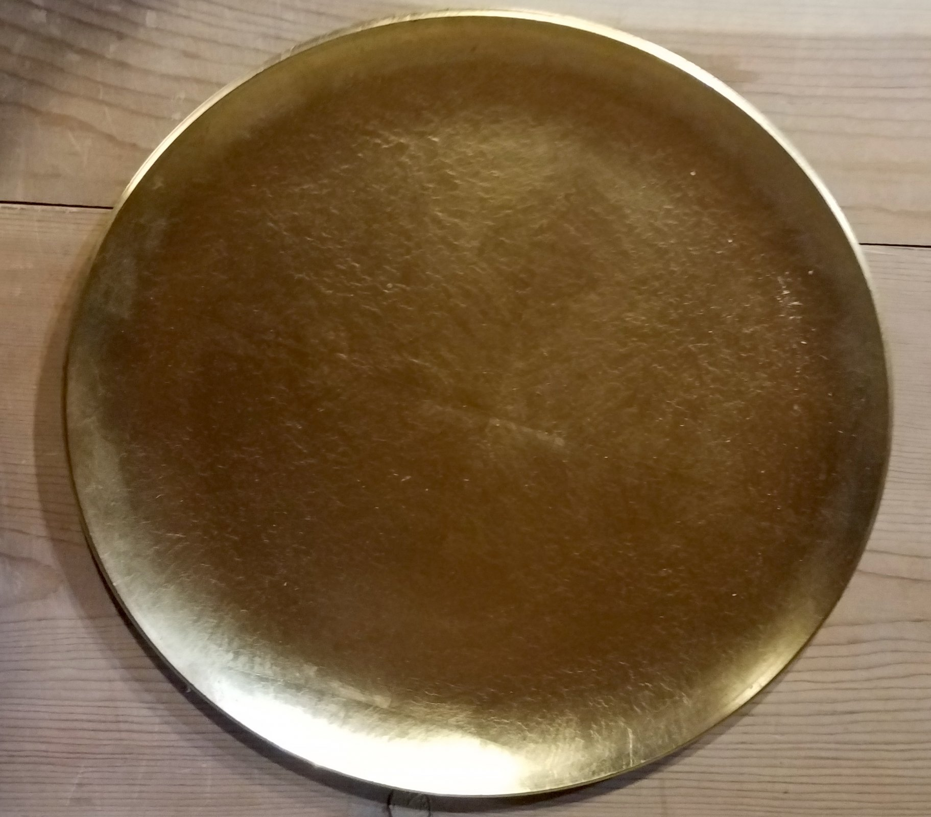 Japanese Gold lacquer charger plate