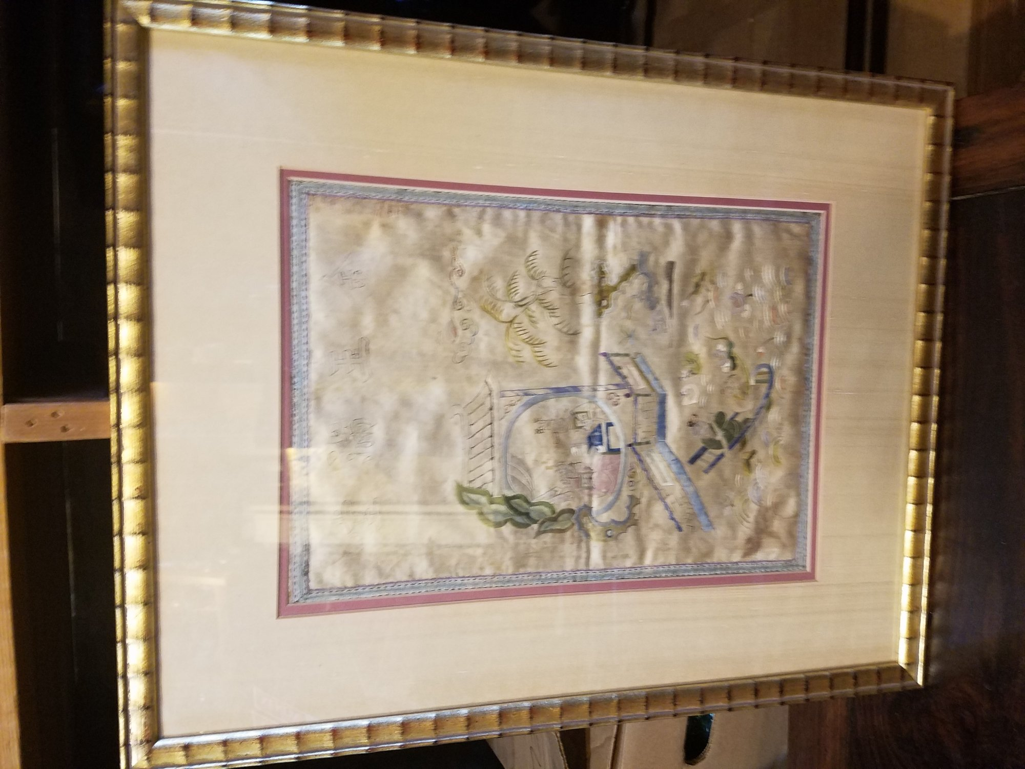 Chinese Embroidery framed and glazed