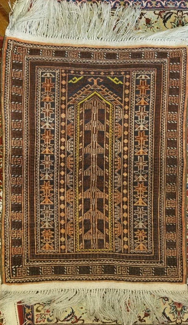 3'2 x 1'11 - Afghan Tribal Rug -