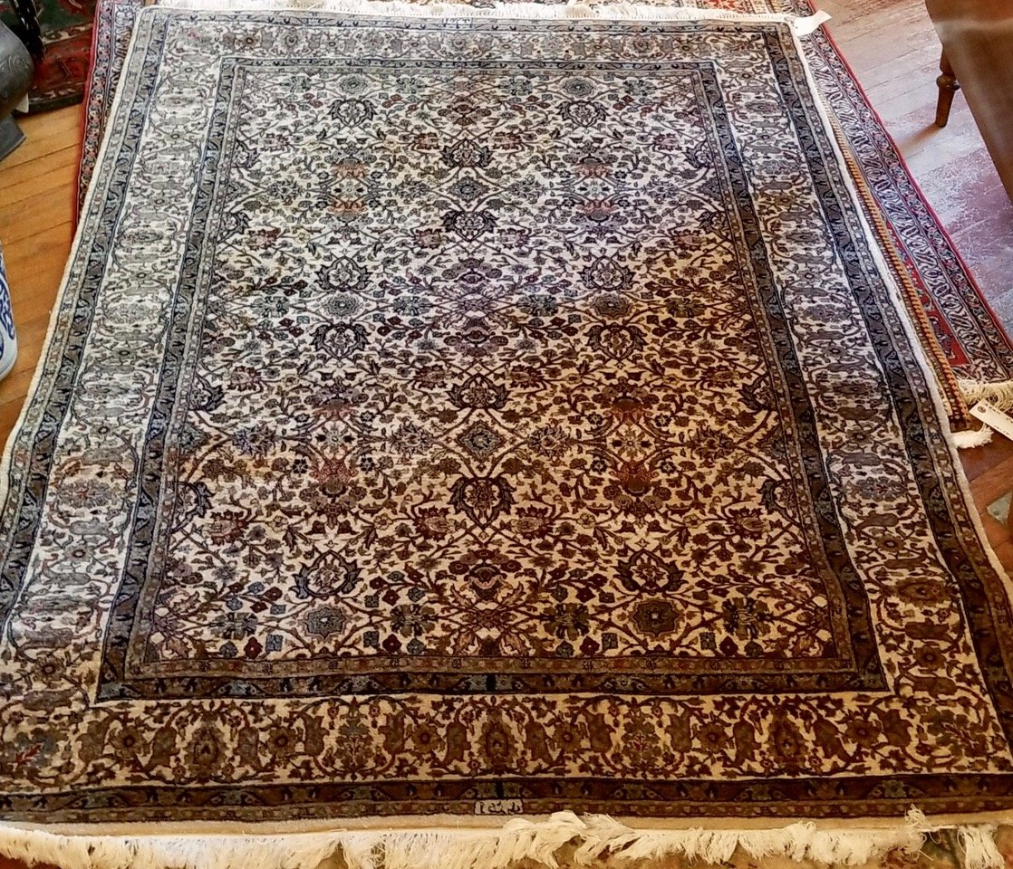 4'8 x 7'3 Indian Kashan - lightly used