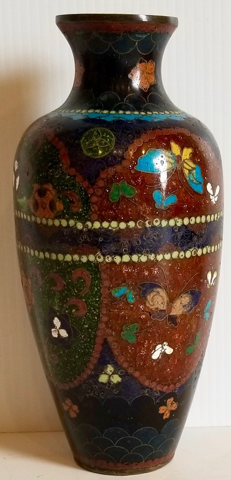 Chinese small cloisonne vase