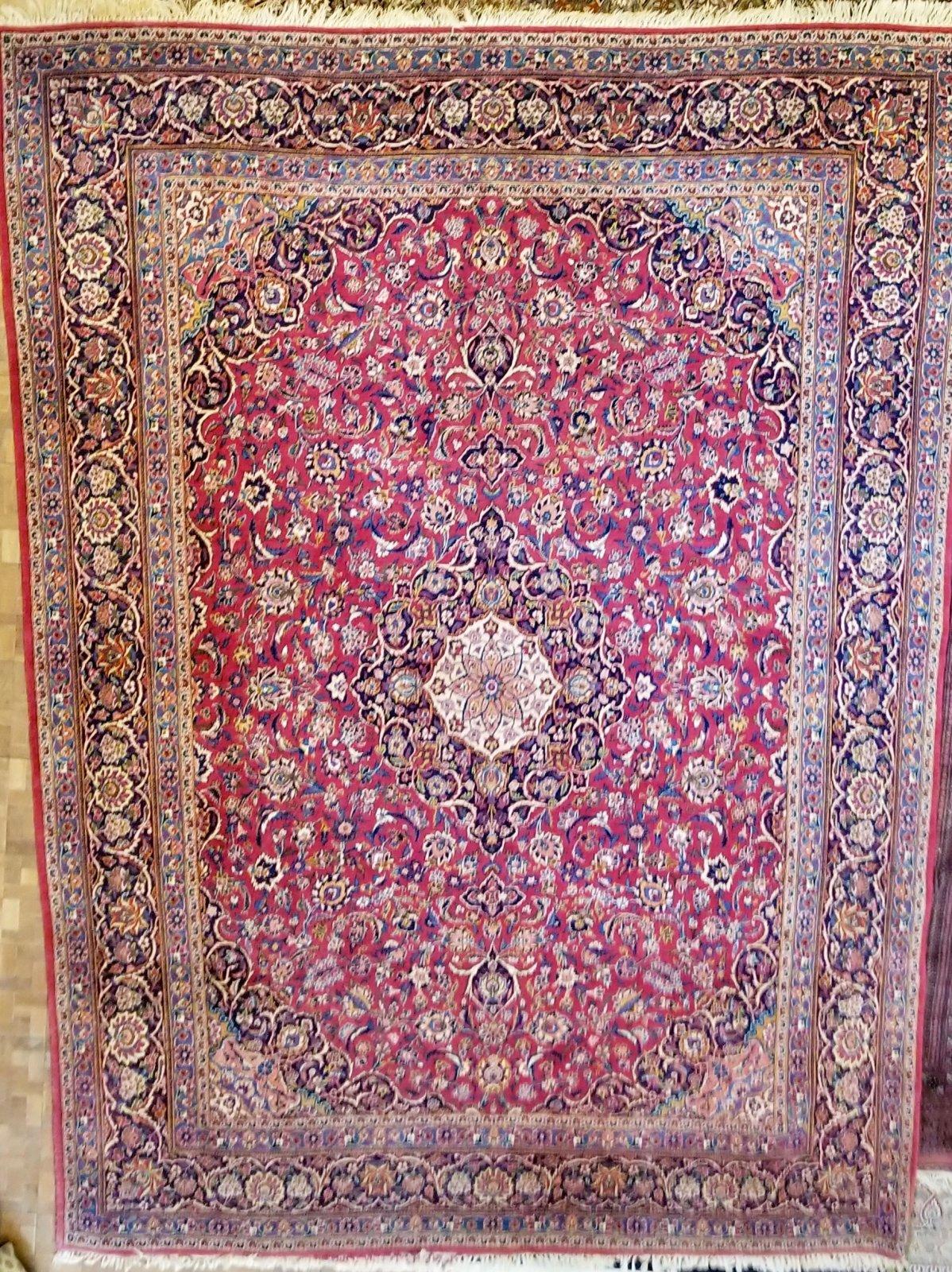 Persian Kashan 12'8 X 9'1  UTXY