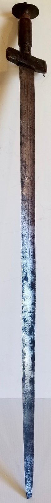 Late 19th century North West African Touareg Takauba sword