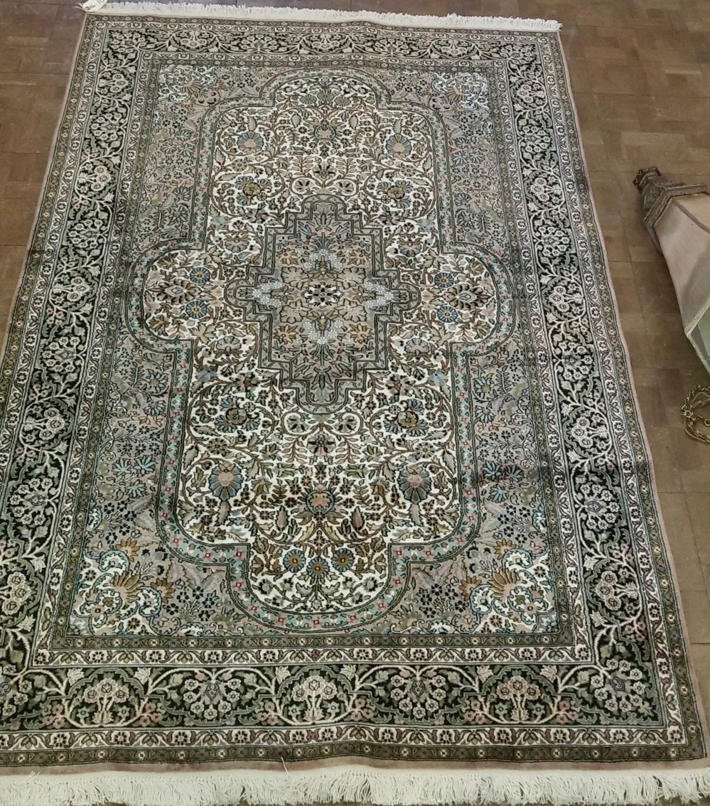 67'10 X 4'1 Persian silk Qum with cotton foundation