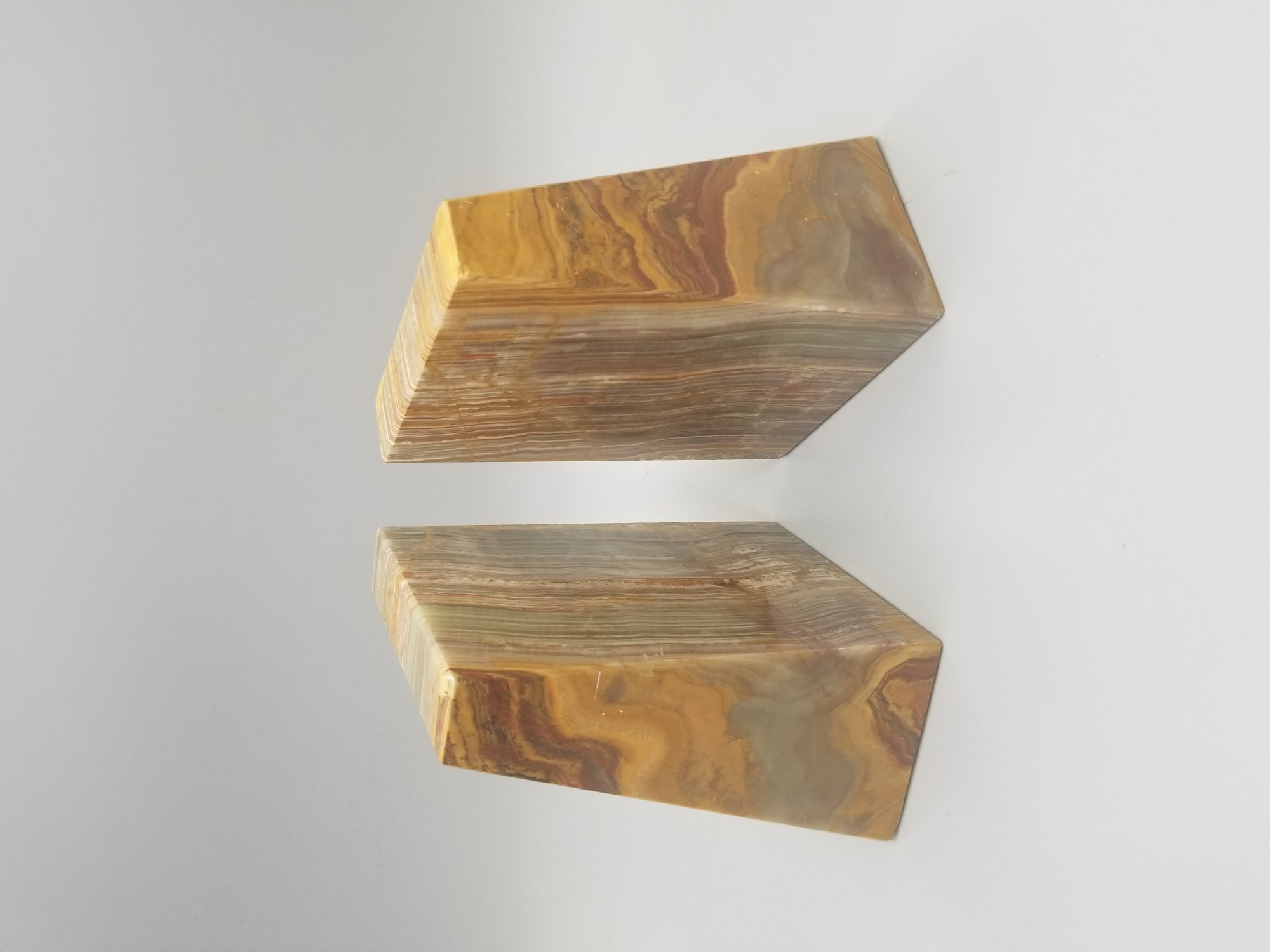 marble/stone book ends SX