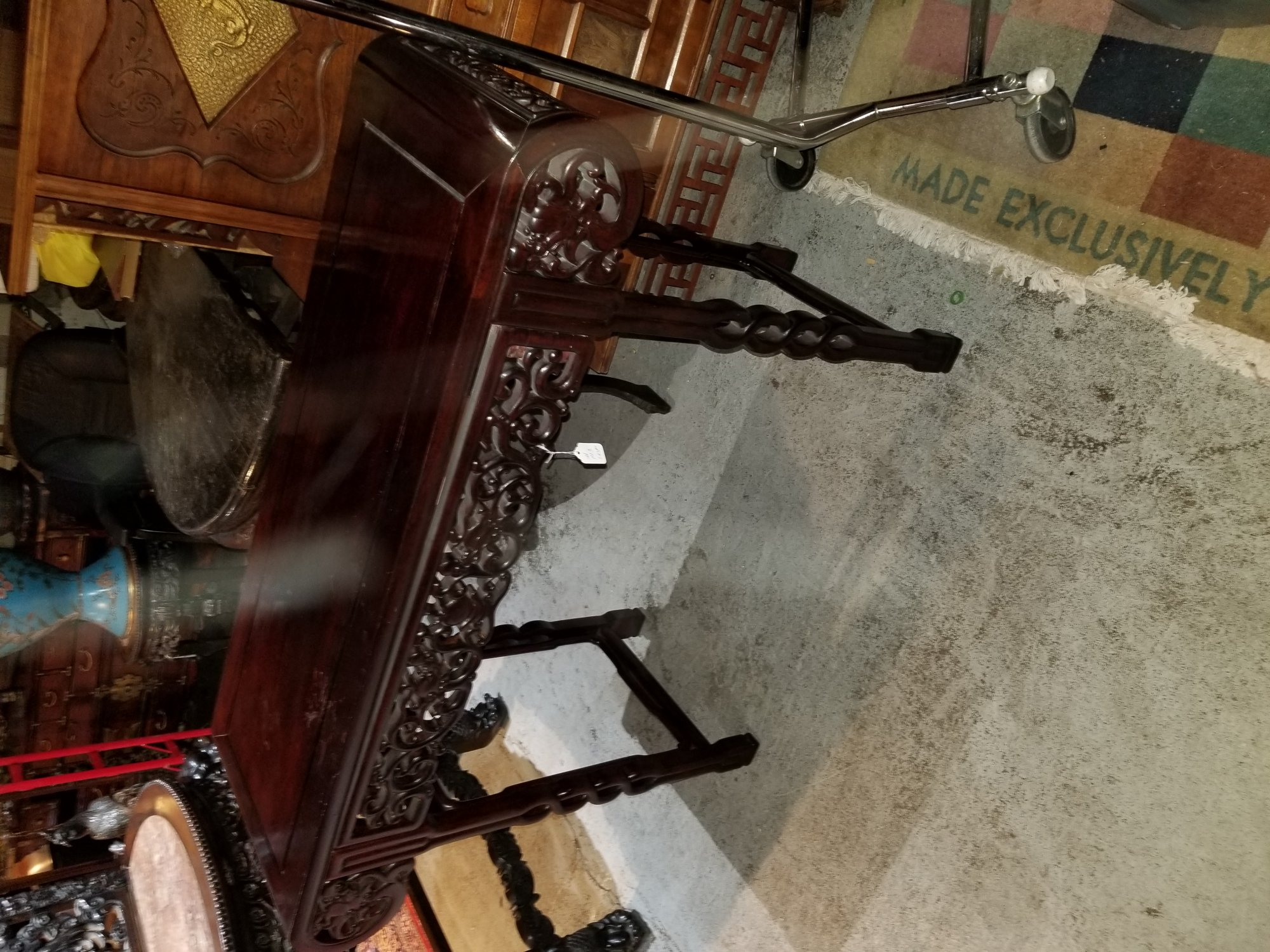 20th century Chinese high table approximately 4ft tall 4 ft wide and 18 inches deep PET