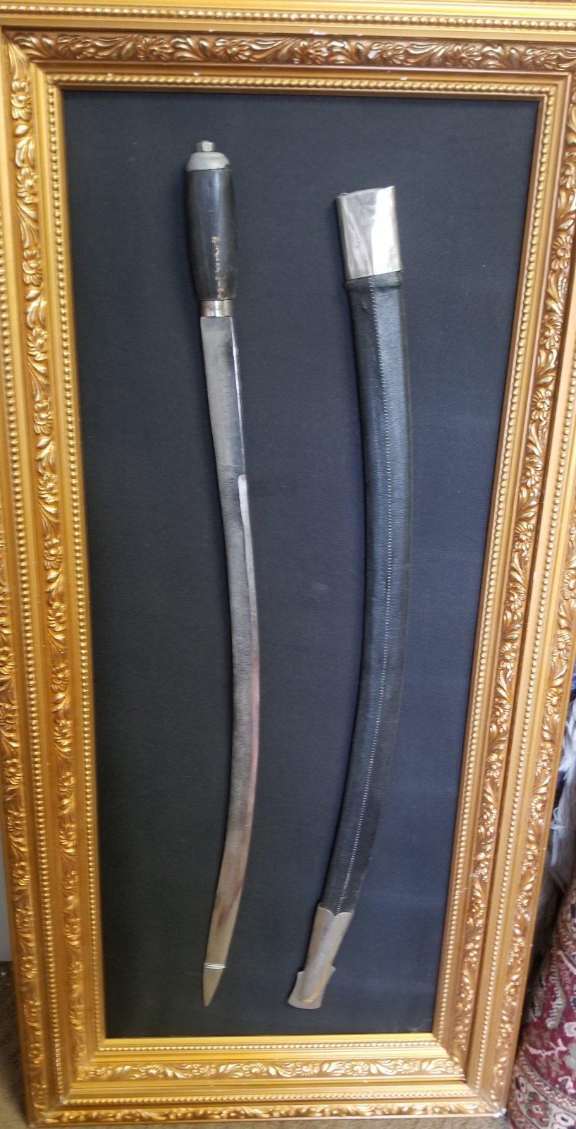 Saudi Arabian sword with sheath framed with no glass PPTX