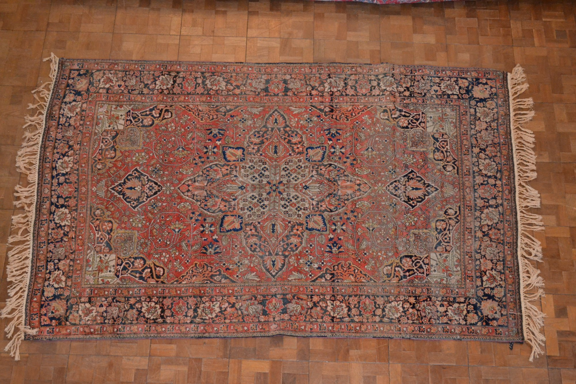 Antique Persian Mohtasham Kashan Circa 1880 4' 3 X 6' 8