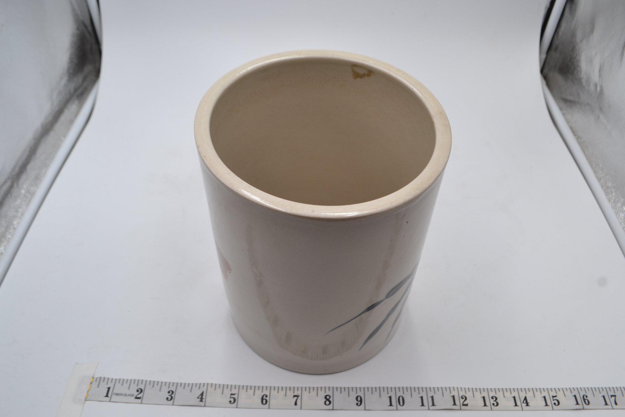 Japanese Porcelain Brush Pot - Flower - PTX